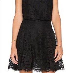 Aqua lace dress black medium